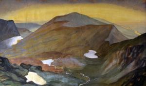 Snowdon  by Katharine Clausen c1930