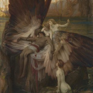 The Lament for Icarus exhibited 1898 Herbert Draper    Presented by the Trustees of the Chantrey Bequest 1898 https://www.tate.org.uk/art/work/N01679