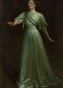 Christabel Pankhurst by Ethel Wright