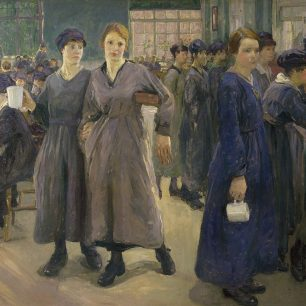 Women in the canteen by Flora Lion