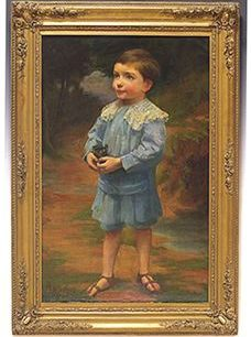 Painting by Bernard E  Ward