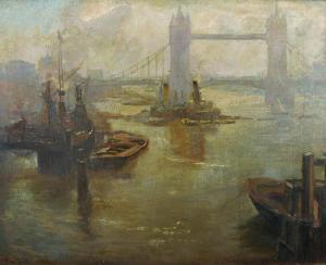 Scene by Tower Bridget by Emmie Stewart Wood