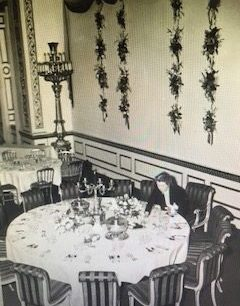 Constance Spry laying the tables for the Coronation 1953