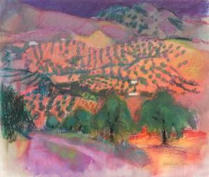 Landscape with olive groves Alfred Rozelaar Green