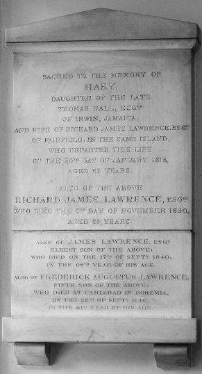 Lawrence memorial   NADFAS with thanks to Jack Deans