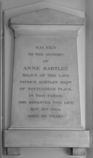 Anne Bartlet memorial   NADFAS with thanks to Jack Deans