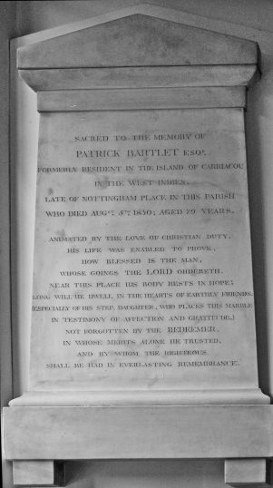 Patrick Bartlet memorial   NADFAS with thanks to Jack Deans