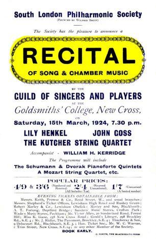 poster for Lily Henkel concert