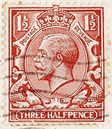 George V postage stamp