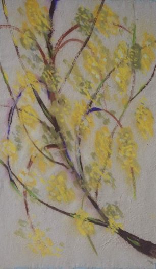 Laburnum Tree 1988 watercolour | Juliette Meacock