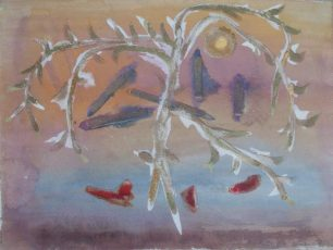 A Pear Tree Stands  (c.1960 sand and colour | Juliette Meacock