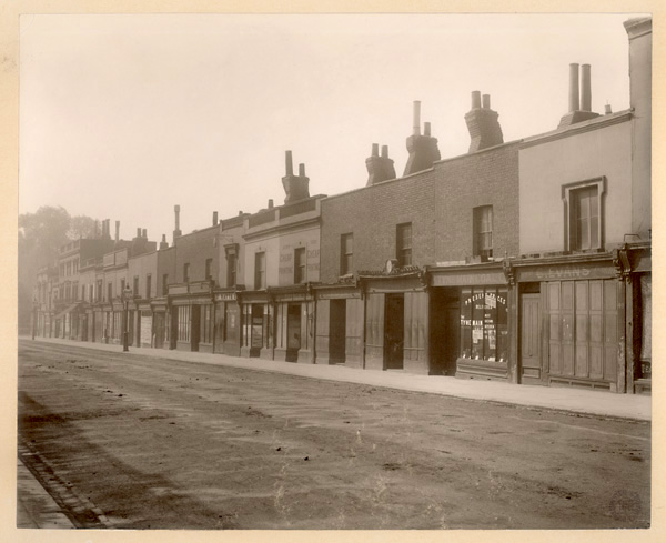 View of the west side of St John's Wood High Street, 1904 | Copyright Westminster City Archives