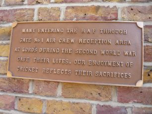 Memorial plaque at Lords | Louise Brodie