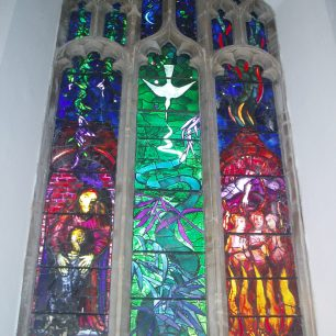 Memorial window to Benjamin Britten by John Piper at Aldeburgh Church | Shirley McKenzie Thurley