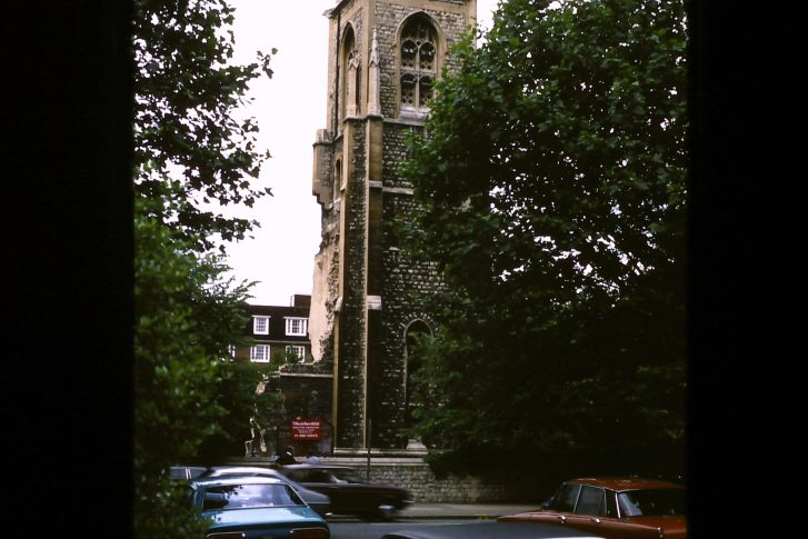 Last remains of All Saints Church (destroyed)