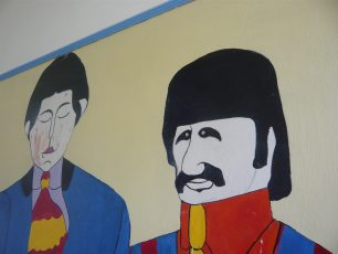 Mural of the Beatles by Stuart Goddard   Louise Brodie