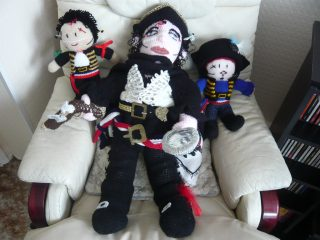 Dolls representing Adam Ant given to Betty | Louise Brodie