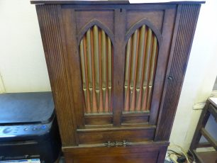 Barrel organ, still working, with hymn tunes and dance tunes | Louise Brodie
