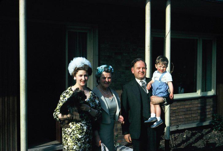 The Clarkes and Michael Sharman going to Charles Sharman's christening   Pamela Sharman
