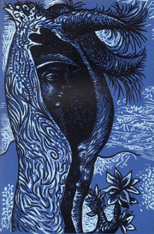 Figure in tree John Craxton