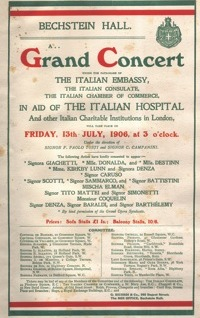 Concert programme | with thanks to the archivist at Wigmore Hall