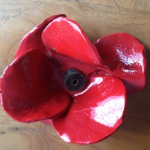 One of the ceramic poppies | Bridget Clarke