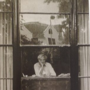 Stephen Spender at his work table