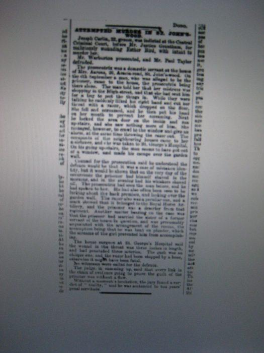 Attempted Murder 1887   © British Newspaper Archives