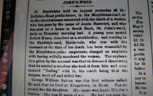 Death of a Woman at St John's Wood