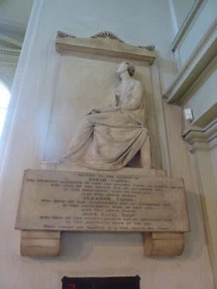 The Capel Memorial by Sir Francis Leggatt Chantrey | L F Matthews