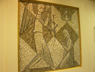 The Annunciation, mosaic   Louise Brodie. 2011