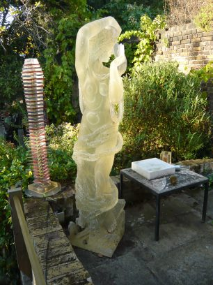 Two sculptures in the garden at Carlton Hill | Louise Brodie 2011