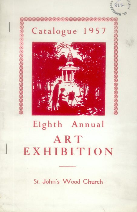 Programme for Eigth Annual Art Exhibition in St John's Wood Church, 1957 | Copyright Westminster City Archives