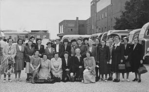 About 1950 - Princess Rd. School Dinner Mums & friends | photo by Robert Craik