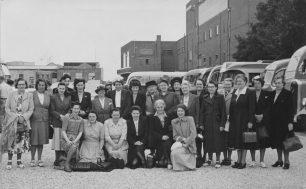 About 1950 - Princess Rd. School Dinner Mums & friends | photo by Robert Craik