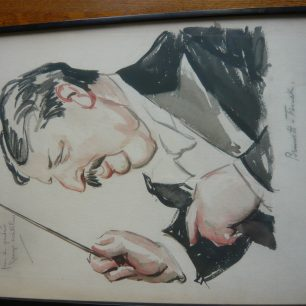 Caricature of Herman Finck, Judy's grandfather