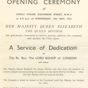 Opening ceremony programme | Octavia Housing