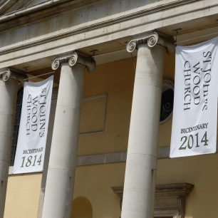 St John's Wood Church with bicentenary banners | Louise Brodie