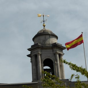 MCC flag flying on the church next to the tower | Louise Brodie