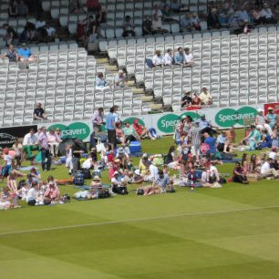 Members of the public were allowed to sit on the turf at Lord's for this special occasion | Louise Brodie