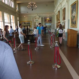 The public, not just MCC members were allowed into the Long Room in the Pavilion | Louise Brodie