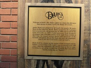 Plaque by Dark's bar | Louise Brodie