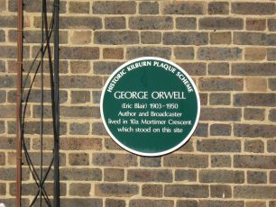 Orwell plaque   Louise Brodie