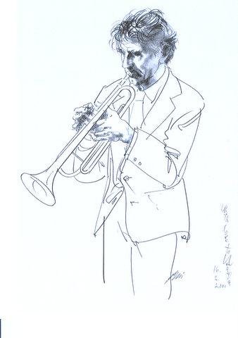 Drawing by Hans Erni