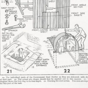 Erecting an Anderson shelter
