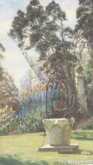 Well in the garden of Grove House by Goetze | City of Westminster archives