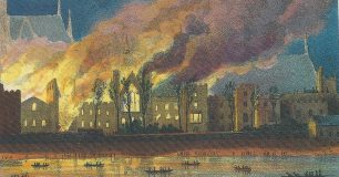 Houses of Parliament on fire 1834 | Westminster Archives