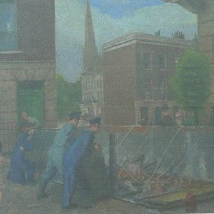 Dismantling of emergency water tank by Henry Marvell Carr | City of Westminster archives