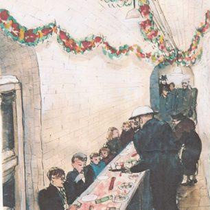 Christmas in St Johns Wood church crypt by Olga Lehmann