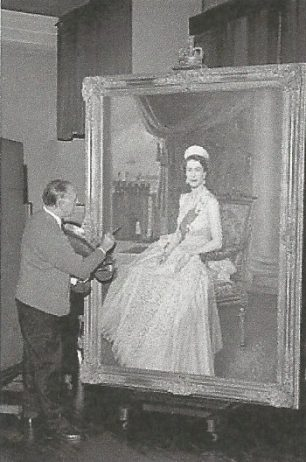 Edward Halliday in his St Johns Wood studio